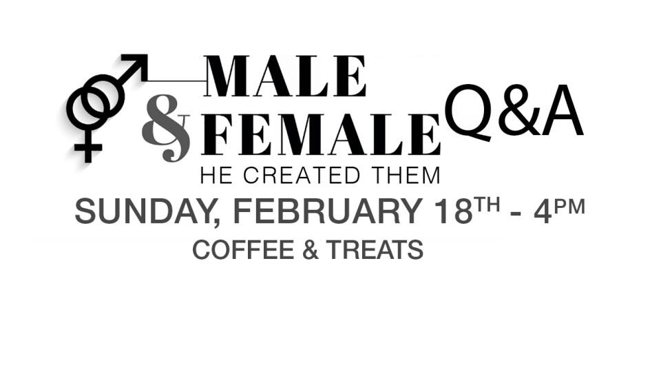 """Male & Female He Created Them"" Q&A Night"