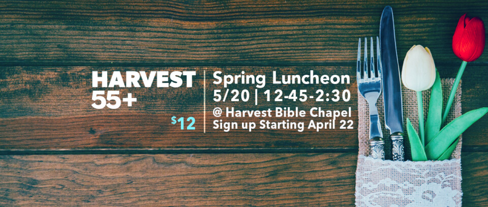 55+ Spring Luncheon
