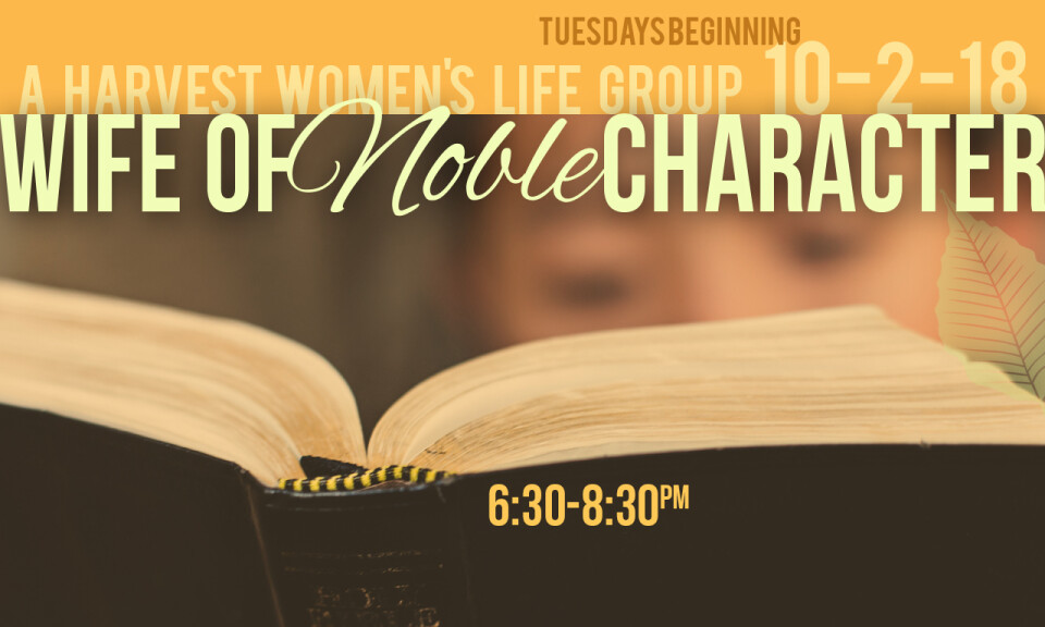 Wife of Noble Character Life Group Launch